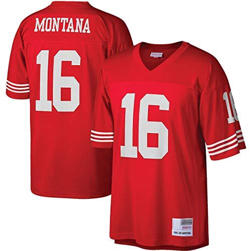 DODE Camiseta de entrenamiento de fútbol americano para hombre, camiseta Réplica del legado n.º 16, transpirable, para hombre, color rojo