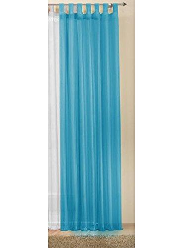 Transparente einfarbige Gardine aus Voile, viele attraktive Farbe, 245x140, Blau, 61000