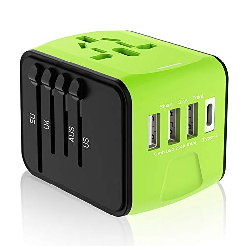 Travel Plug Adapter, Universal Travel Adapter, Travel Power Plug Adapter, International Power...