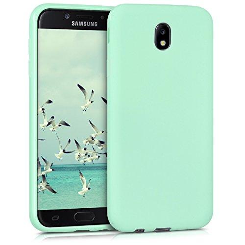 kwmobile Carcasa Compatible con Samsung Galaxy J7 (2017) DUOS - Funda móvil de Silicona - Protector de TPU en Menta Mate