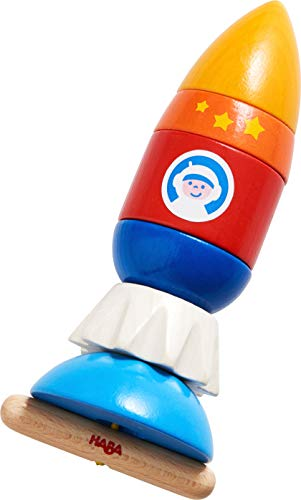 HABA Threading Game Rocket Dexterity Toy for Ages 2+ (Made in Germany)