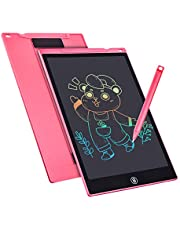 LCD Writing Tablet 12 Inch Colorful Drawing Tablet for Kids, 4~12 Girls Toys Gifts Erasable Reusable Writing Pad, Educational Christmas Brithday Toy for Children Doodle Board