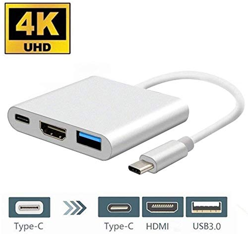 USB C naar HDMI Adapter, USB Type C naar HDMI USB Type C Adapter, USB 3.1 Type C USB C 4K HDMI Digitale AV Multiport Adapter Compatibel voor MacBook, Chromebook,HP,Samsung S8/S9