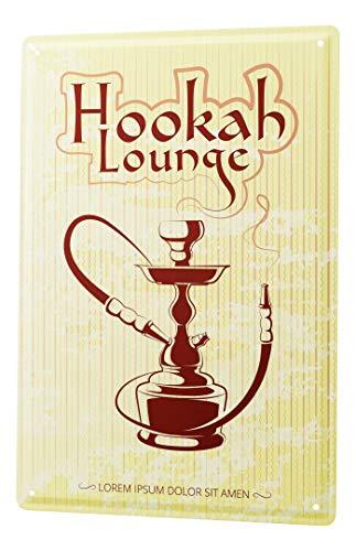 LEotiE SINCE 2004 Blechschild Vintage Retro Metallschild Wandschild Blech Poster Tabak Nostalgie Shisha Lounge