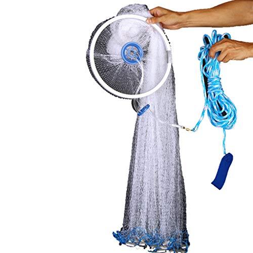 Frisbee Werfen Netner Net Fisch Traditionelle Hand Cast Angeln Einfach Zu Automatische Werfen König Werkzeug Fangstange Einfach Lernen Einfach Ein Mesh Netzwerk Hohe 1,2 Mt (stahl)