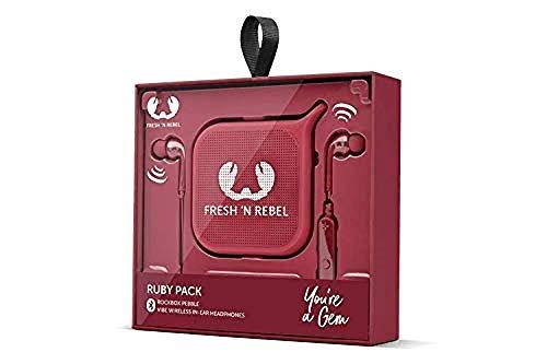 Fresh 'N Rebel Set In-Ear-Kopfhörer Vibe + Lautsprecher Pebble, Ruby