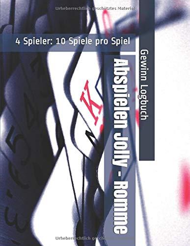 Abspielen Jolly - Romme - 4 Spieler: 10 Spiele pro Spiel - Gewinn Logbuch