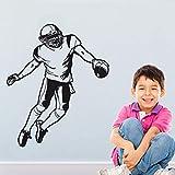 zqyjhkou Joueur de Rugby Sticker Mural Autocollant de Rugby Affiche de Sport personnalisé décor à la Maison Stickers muraux pour Chambre d'enfants garçon Chambre 69x81 cm