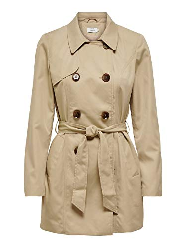 ONLY Damen ONLVALERIE CC OTW Trenchcoat, Ginger Root, XL