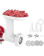 Antree Meat Grinder Attachment fits for KitchenAid Stand Mixer - Food Grinder -Meat Mincer met 4 Grind Plates, 2 Grind Blades, 2 Worstvulbuizen en 1 Reinigingsborstel voor KitchenAid Mixers