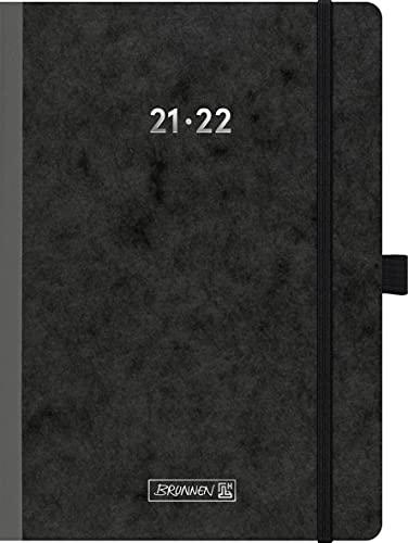 """Brunnen 1072170242 Schülerkalender 2021/2022 (18 Monate) """"FACT!plus"""" 2 Seiten = 1 Woche, Blattgröße 14,8 x 21 cm, A5, Karton-Einband Pressspan 335 g/m²"""