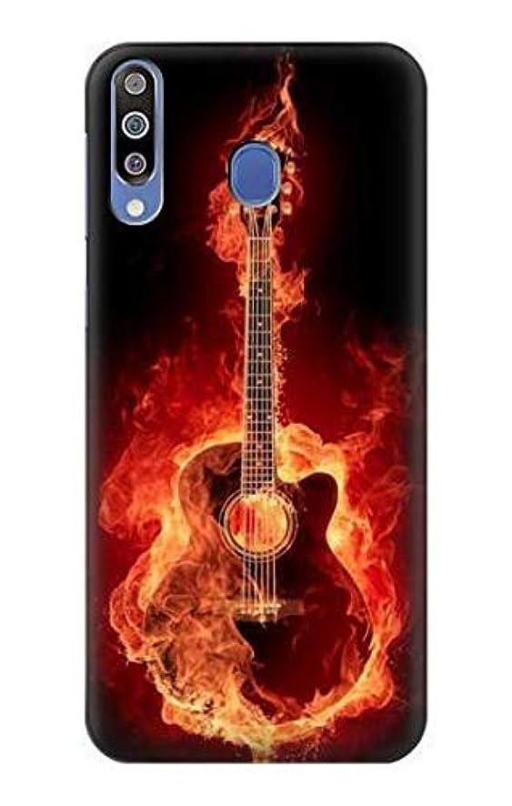 R0415 Fire Guitar Burn Case Cover for Samsung Galaxy M30