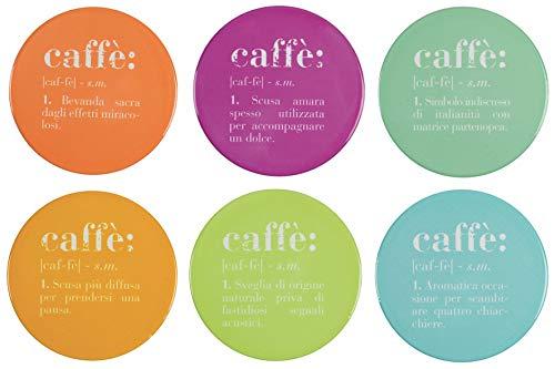 Set 6 Victionary Colors Sottobicchiere