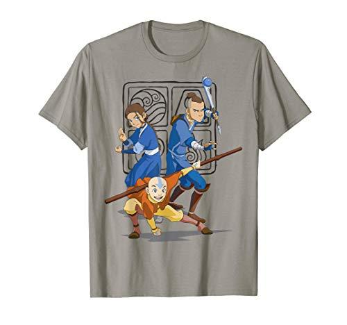 Nickelodeon Avatar The Last Airbender Action Group Shot T-Shirt