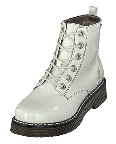 bugatti Damen 431549325900 Kurzschaft Stiefel Stiefeletten, Weiß (Offwhite 2100), 40 EU