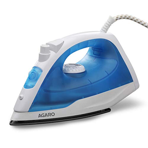 AGARO Edge Steam Iron 1200W with Non-Stick Sole Plate, Variable Steam Control...