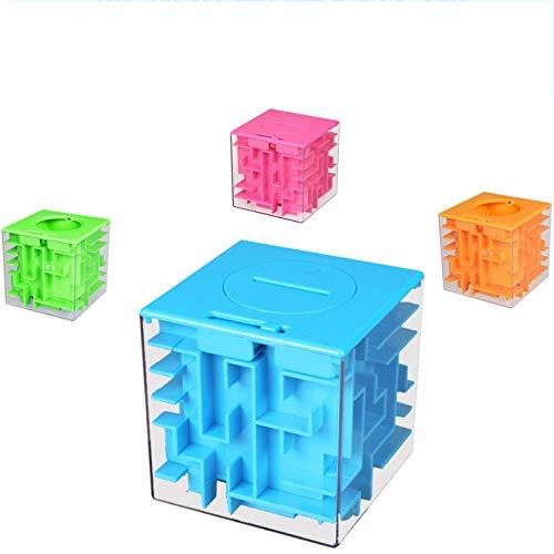 YUY Money Maze Bank Money Counter Plastic Maze Hucha Alcancía para Niños Depositable Y Extraíble Incluso Una Alcancía También Es Una Alcancía Educativa para Niños,Blue