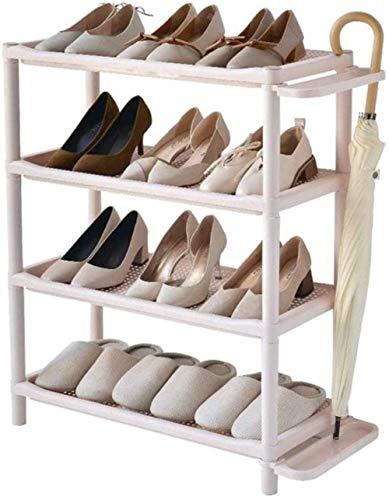 Pared pintura Plástico Zapatero Gabinete de Almacenamiento de 4 Niveles Pasillo baño paragüero Asamblea de Bricolaje Taburete Cambiar Zapatos
