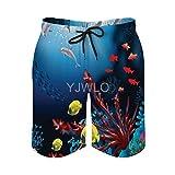 Ocean Animal Dolphin Fish Transpirable de secado rápido para hombre Pantalones de playa Pantalones cortos de natación