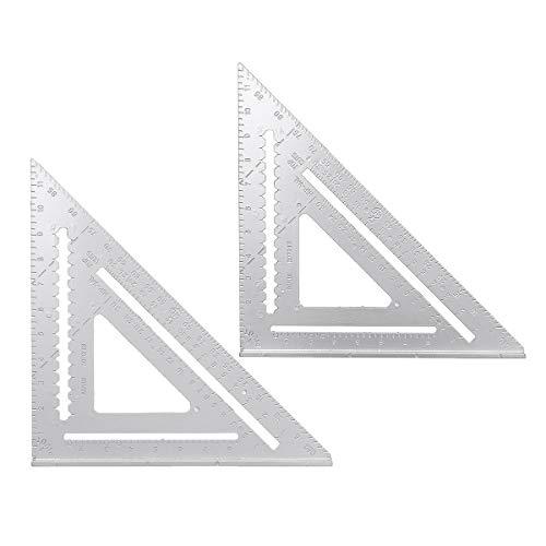 ZOYOSI 12 pulgadas aleación de aluminio ángulo recto triángulo regla transportador que encuadra herramientas de medición