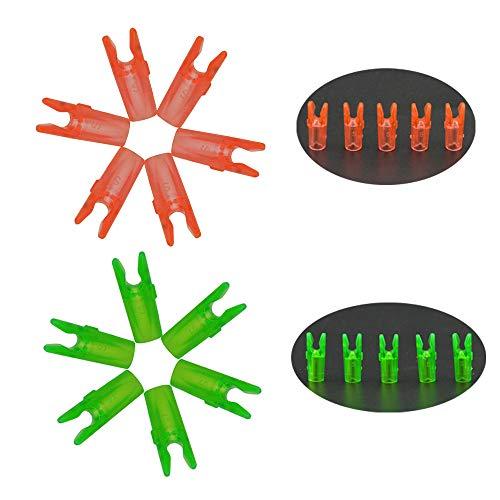 MILAEM 50pcs Tiro con Arco plástico Nocks de Flechas Pin de Flecha para Eje de Flechas ID 3.2mm (Verde)