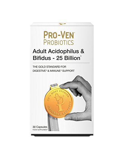 Proven Probiotics Adult Acidophilus & Bifidus 25 Billion CFU - 30 Capsules of High Strength Friendly Bacteria
