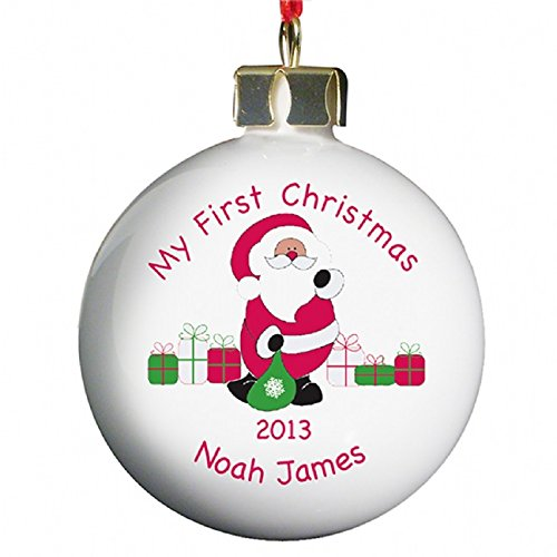 C.P.M. Personalised Bauble - My First Christmas