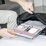 Beblau Fold Morado - Organizador portátil plegable acoplable a tus dispositivos, organizador de escritorio acoplable a la computadora portátil, organizador personal (Morado)