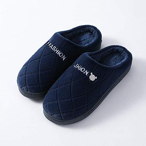 Andar por casa,Zapatillas de algodón para el hogar de fondo grueso antideslizante para mantener el calor interior lindo-E_40-41,Slipper Interiores y Exteriores