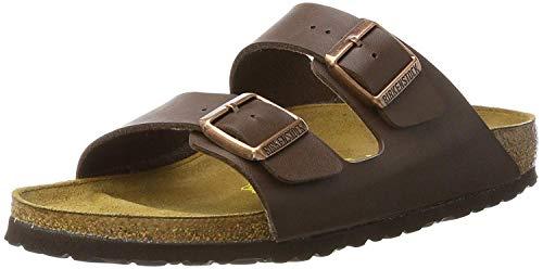 Birkenstock Schuhe Arizona Birko-Flor Schmal Dark Brown (051703) 43 Braun
