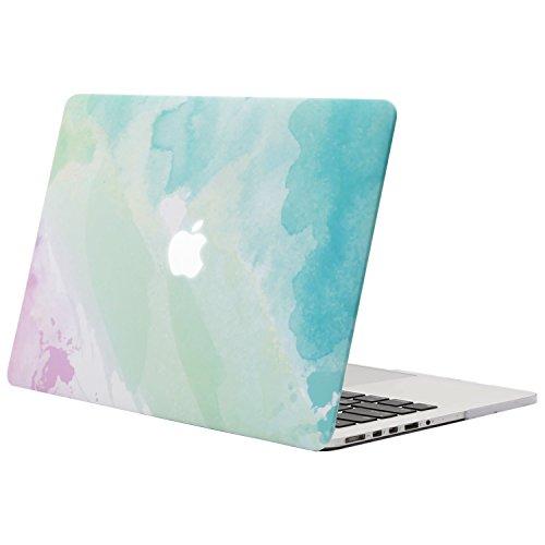 MOSISO Funda Dura Compatible con MacBook Pro 13 Retina A1502 / A1425 (Versión 2015/2014/2013/fin 2012), Carcasa Rígida Protector de Patrón de Plástico Cubierta, Niebla del Arco Iris