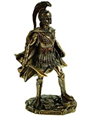 Veronese 708-7653 figuur Alexander de grote bronskleurige sculptuur 25 cm veldherr