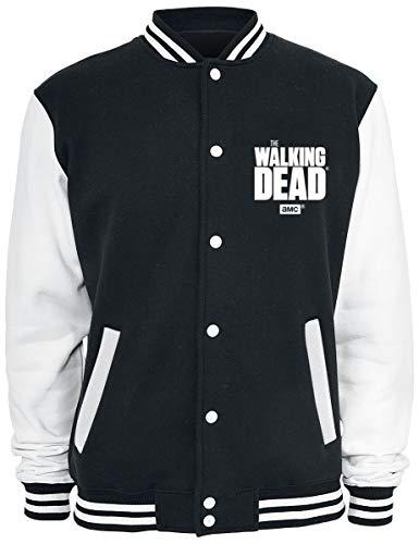 Walking Dead Herren College Jacke Daryl Wings schwarz weiß - M