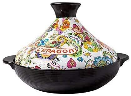 DFVV Casseruola Pot 2L Stufato in Ceramica per Uso Domestico Casseruola Clay Pot 28cm Stufato di Riso Pot Pot antincendio Resistente al Fuoco ad Alta Temperatura .Cassa in Alluminio Casseruola