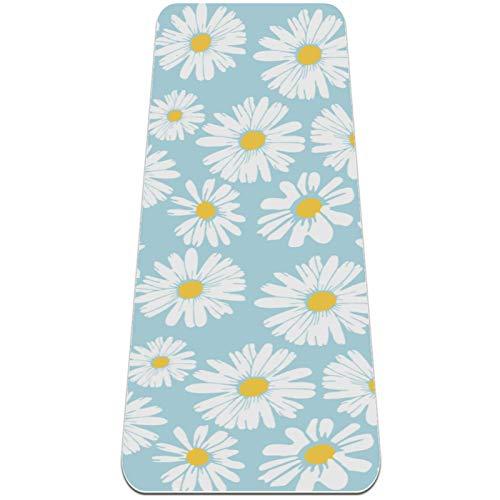 Eslifey Little Daisy - Esterilla de yoga antideslizante para mujeres y niñas (182,8 x 60,9 cm, 1/4 pulgadas de grosor)