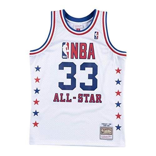 Mitchell & Ness NBA Larry Bird All Star East 1988 Hardwood Classic, color blanco