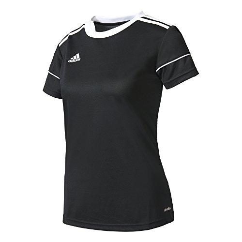 adidas Squad 17 JSY W Camiseta, Mujer, Negro (Negro/Blanco), M