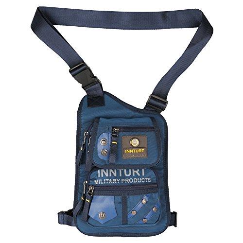 Innturt Beintasche, Oberschenkeltasche, Taktische Bauchtasche, Wandertasche, Hüfttasche, Beintasche, Blau