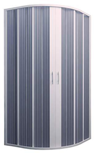 Cabina de ducha fuelle semicircular Ap. Central 90-70 x 90-70 reducible.