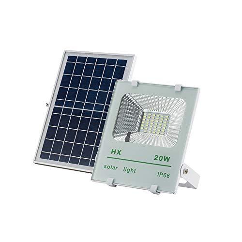 Popertr 20W Led Luces de inundación solares IP66 a Prueba de Agua al Aire Libre Paneles...