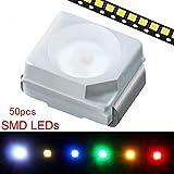 PLCC 2 LED per montaggio superficiale 1 × 50pcs/set SMD LED diodi luci SUPERTOOL montaggi...