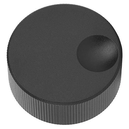 Nicoone 32X13mm Volumen Control Knob Schwarz Matt Solide Aluminium Knob für 6Mm Potentiometer