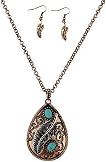 HANDMADE JEWELLERY - Tribal Feather Necklace Native American Jewelry bijoux Navajo Ethnic Necklace Boho Hippie Necklace Online Shopping India Cowgirl