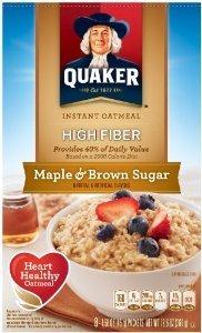 Quaker High Fiber Oatmeal Maple & Brown Sugar