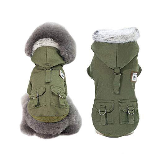 Springisso Haustier Hund Kleidung Baumwolle Militär Mantel Luftwaffe Anzug Haustier Hund Winter Winddicht Hund Mäntel Jacken Für Kleine Hunde Kleidung,L