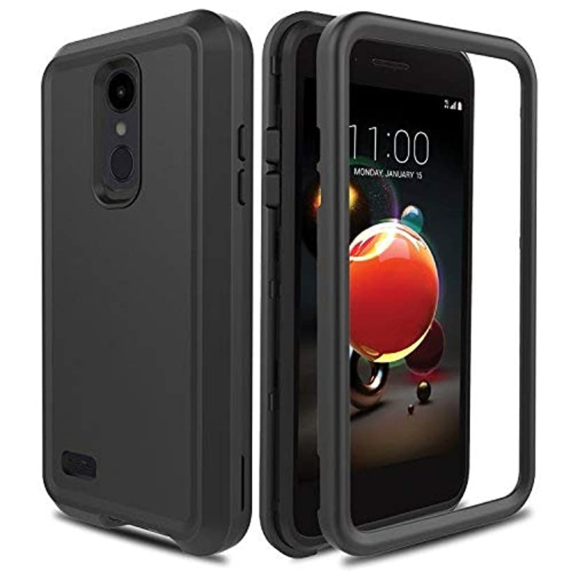 AMENQ Case for LG Aristo 2/LG Tribute Empire/LG Tribute Dynasty/LG Rebel 3 L158VL/LG Rebel 4 LTE, 3 in 1 Heavy Duty Shockproof with Rugged Hard PC and TPU Bumper Protective Armor Phone Cover-Black