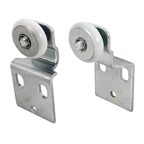Prime-Line N 7533 Sliding Closet Door Roller Kit, 3/4 in. Wheel Diameter, Convex (Round) Edge Plastic, Stamped Steel Construction, Includes 3/8 in. and 1/2 in. Offset Pairs, Pack of 4