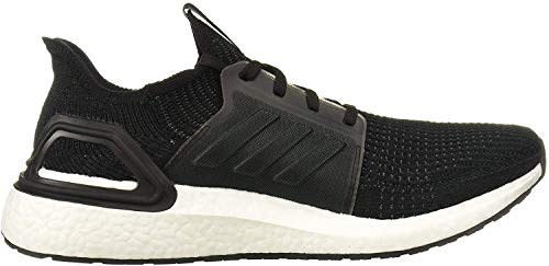 adidas Men's Ultraboost 19 Running Shoe, Black/Black/White, 10 M US