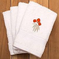 PETAL HOME 550 GSM Cotton Towels (13x13 Inch, Brindavan)