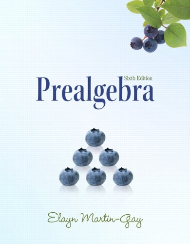 Prealgebra (The Martin-Gay Paperback Series)